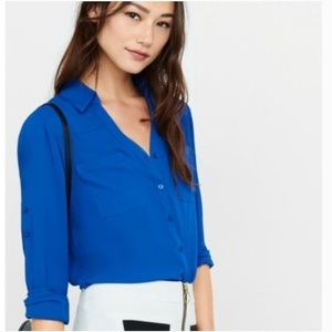 Express Royal Blue Portofino Shirt sz Small